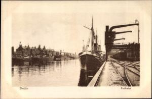 Ak Szczecin Stettin Pommern, Freihafen