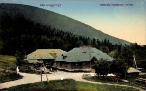 Ak Nysa Neisse Schlesien, Roteberg Wirtshaus im Altvatergebirge