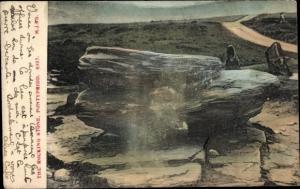 Ak Pontypridd Wales, The Rocking Stone