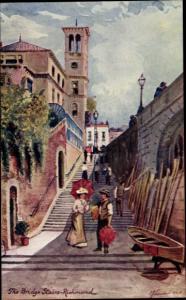 Künstler Ak Richmond London, The Bridge Stairs, Tuck 6251