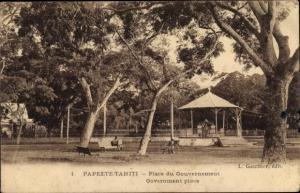 Ak Papeete Tahiti, Place du Gouvernement, Pavillon