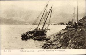 Ak Bar Antivari Montenegro, Balkankrieg, gesunkenes Segelschiff