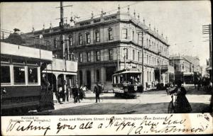 Ak Wellington Neuseeland, Cuba, Manners Street Junction