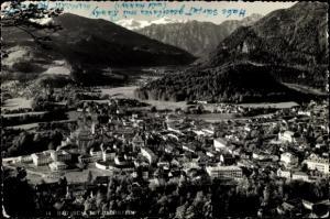 Ak Bad Ischl in Oberösterreich, Gesamtansicht mit Dachstein
