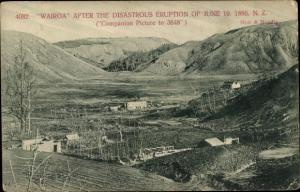 Ak Wairoa Neuseeland, Town after Eruption of 10.06.1886