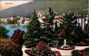 Ak Opatija Abbazia Kroatien, Parkanlage