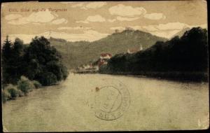 Ak Celje Cilli Slowenien, Blick auf die Burgruine