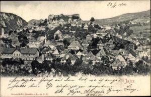 Ak Jajce Bosnien Herzegowina, Panorama vom Ort, Stengel 5190