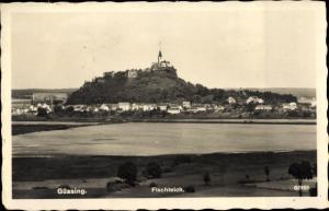 Ak Güssing im Burgenland, Fischteich, Panorama