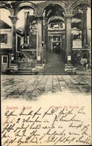 Ak Spalato Kroatien, Soljet, Entrata del Duomo