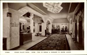 Ak London, Strand Palace Hotel, Foyer, view to Winter Garden