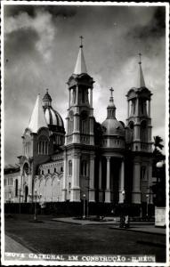 Foto Ak Ilhéus Bahia Brasilien, Nova Catedral em construcao