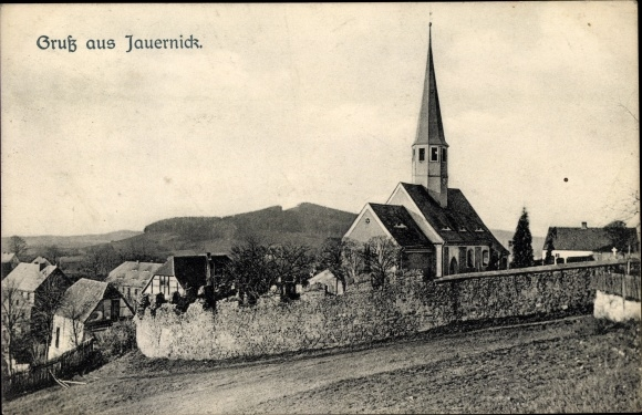 Ak Jauernick Buschbach Markersdorf Lausitz, Kirche 0