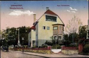 Ak Darmstadt in Hessen, Haus Christiansen