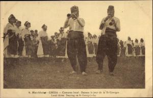 Ak Grida Mazedonien, Costume local, Danses le jour de la St Georges