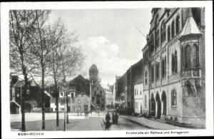 Ak Euskirchen Nordrhein Westfalen, Kirchstraße, Rathaus, Amtsgericht