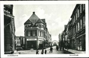 Ak Euskirchen Nordrhein Westfalen, Bahnhofstraße, Rud. Wagener