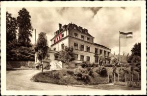 Ak Scheidt Saarbrücken Saarland, Kurhaus Lauer, Inh. Ernst Gassen