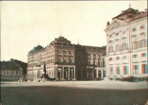 3 D Ak Würzburg am Main Unterfranken, Residenz, Vorderansicht