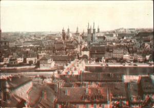 3 D Ak Würzburg am Main Unterfranken, Gesamtansicht von der Festung
