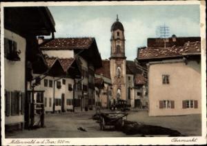 Ak Mittenwald in Oberbayern, Obermarkt, Lachmund