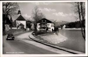 Ak Walchensee Kochel am See, Straße zum Ort mit Klösterl
