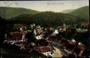 Ak Bad Grund im Harz, Ort, Vogelschau