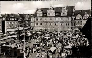 Ak Coburg in Oberfranken, Markttag