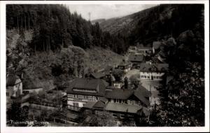 Ak Falkenstein Bayerischer Wald, Teilansicht, Talblick, Ort
