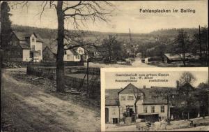 Ak Fohlenplacken Holzminden in Niedersachsen, Gastwirtschaft zum grünen Kranze