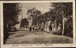 Ak Bomlitz in Niedersachsen, Gruppenbild, Soldat, Gasthaus, Schornstein