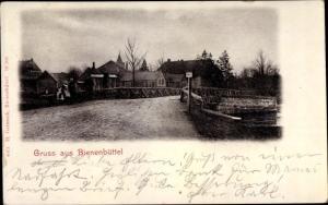 Ak Bienenbüttel Lüneburger Heide, Brücke, Kinder, Flusspartie