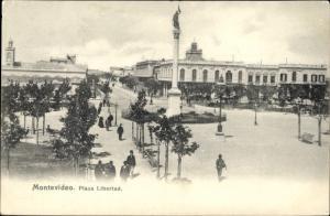 Ak Montevideo Uruguay, Plaza Libertad