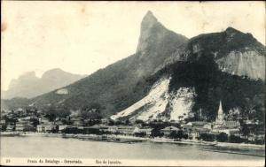 Ak Rio de Janeiro Brasilien, Praia de Botafogo, Corcovado