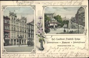 Ak Hannover in Niedersachsen, Hofkonditorei, Bahnhofstraße, Georgstraße