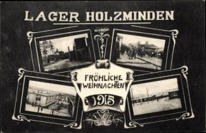 Ak Holzminden an der Weser, Frohe Weihnachten, Gefangenenlager