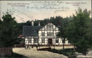 Ak Neuhaus im Solling Holzminden Niedersachsen, Hotel zum braunen Hirsch