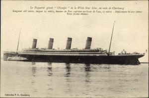 Ak Dampfer Olympic der White Star Line