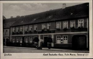 Ak Genthin am Elbe Havel Kanal, Hotel Deutsches Haus