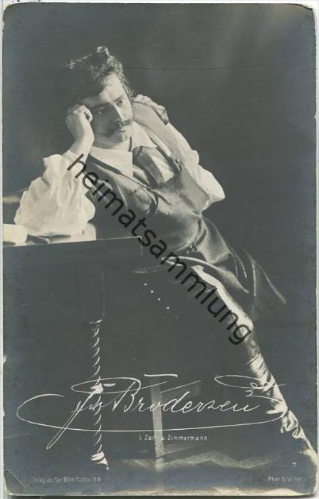 Friedrich Brodersen in Zar und Zimmermann - Deutscher Opernsänger (Bariton) - Foto-AK