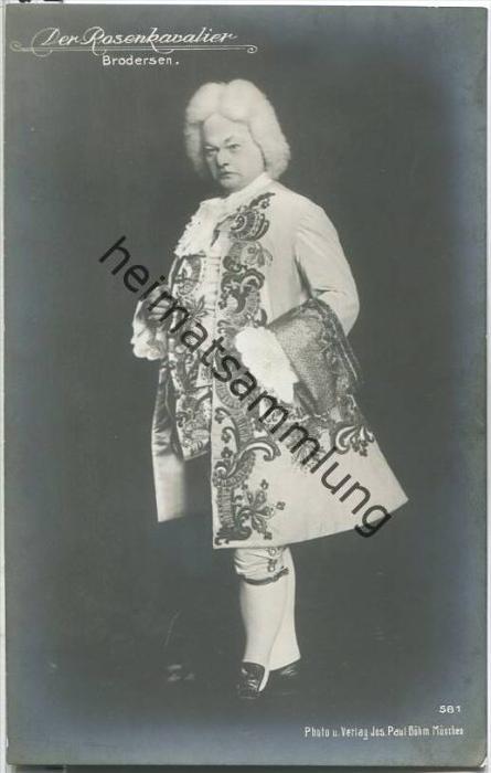 Friedrich Brodersen in Der Rosenkavalier - Deutscher Opernsänger (Bariton) - Foto-AK