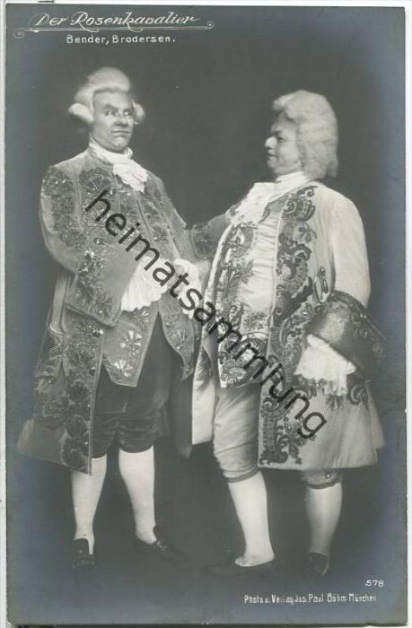 Friedrich Brodersen und Paul Bender in Der Rosenkavalier - Foto-AK