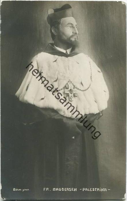 Friedrich Brodersen - Palestrina - Deutscher Opernsänger (Bariton)
