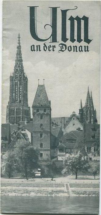 Ulm 1937 - Faltblatt mit 7 Abbildungen