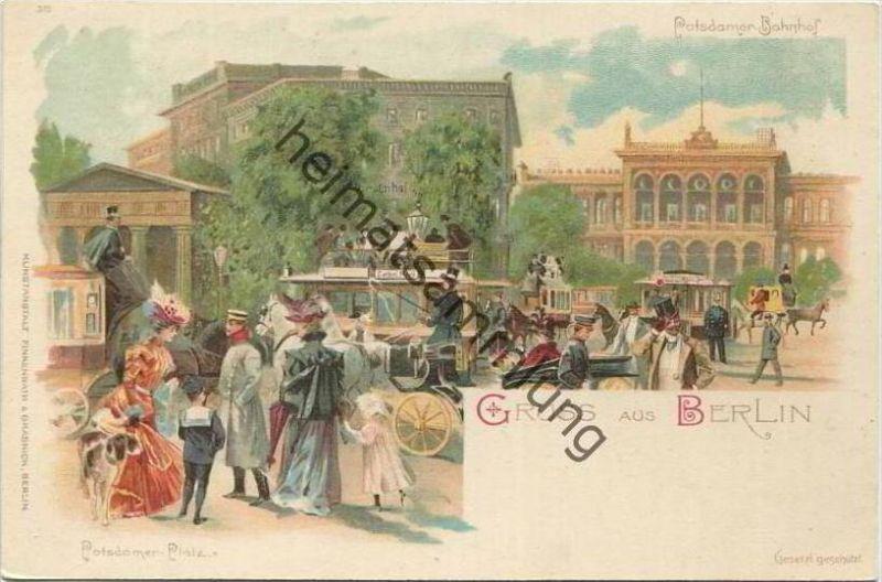 Berlin-Mitte - Potsdamer Platz - Potsdamer Bahnhof ca. 1900