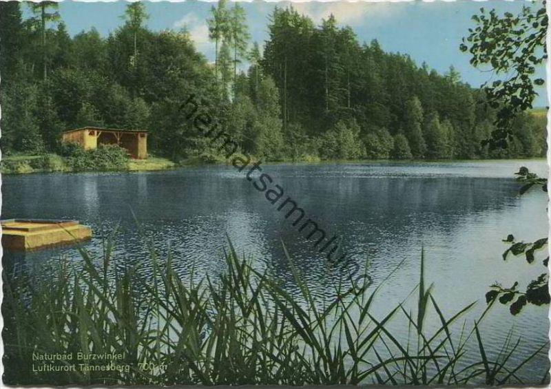 Tännesberg - Naturbad Burzwinkel - AK Grossformat 60er Jahre