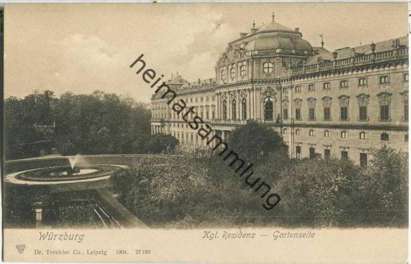 Würzburg - Kgl. Residenz - Gartenseite