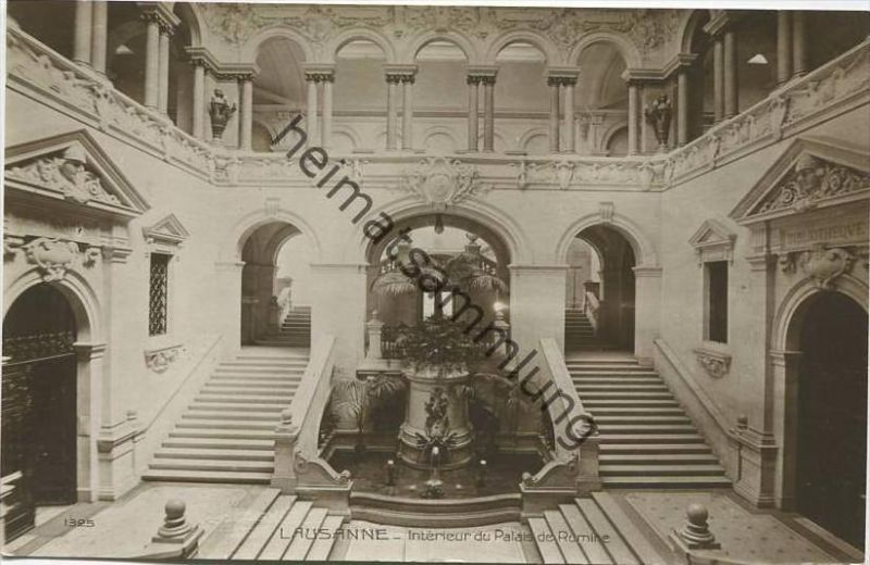 Lausanne - Interieur du Palais de Rumine - Foto-AK
