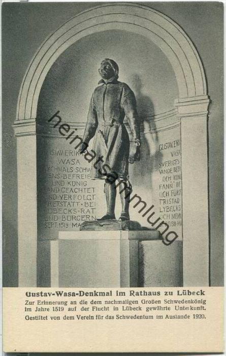 Lübeck - Gustav-Wasa-Denkmal im Rathaus