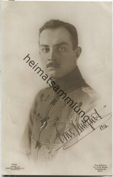 Prinz Ernst August Herzog zu Braunschweig - Foto-AK